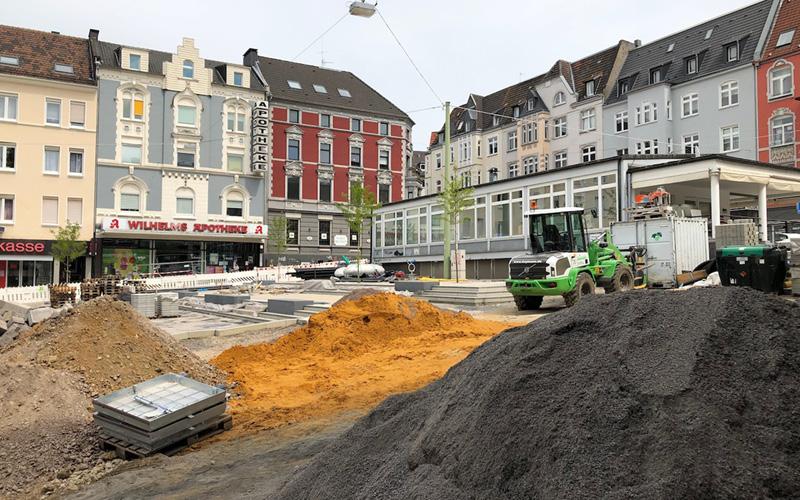 Baustelle am Wilhelmsplatz
