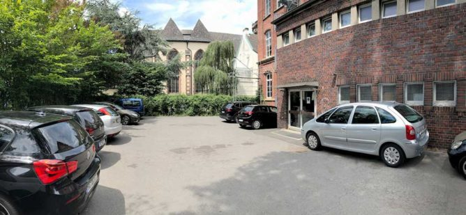 Blick in den Hof des Kulturzentrums Pelmke