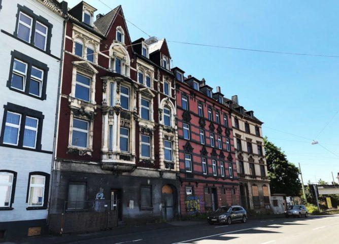 Häuser an der Wehringhauser Straße
