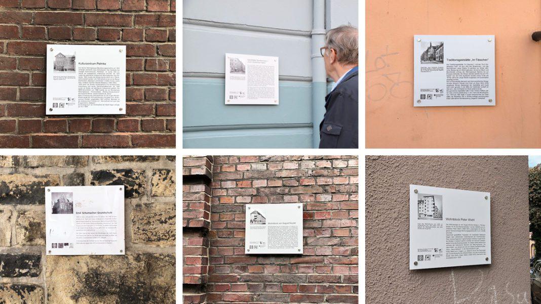 Collage mit sechs Schildern
