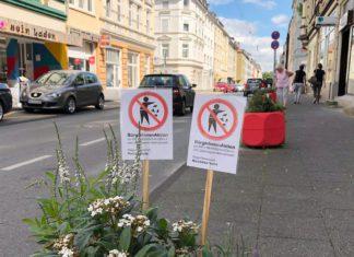 Blumenkübel auf der Lange Straße
