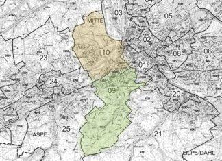 Ausschnitt aus einem Stadtplan