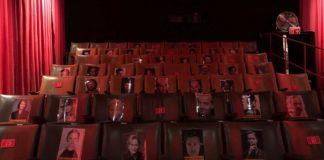 Blick in Kinosaal, viele Plätze blockiert