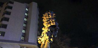 Beleuchtete Skulptur
