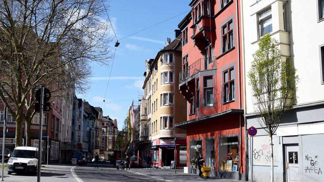 Blick in die Wehringhauser Straße