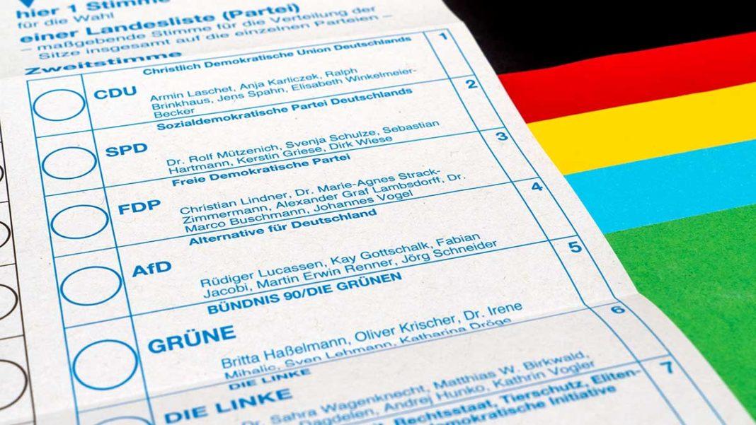 Wahlschein Bundestagswahl 2021